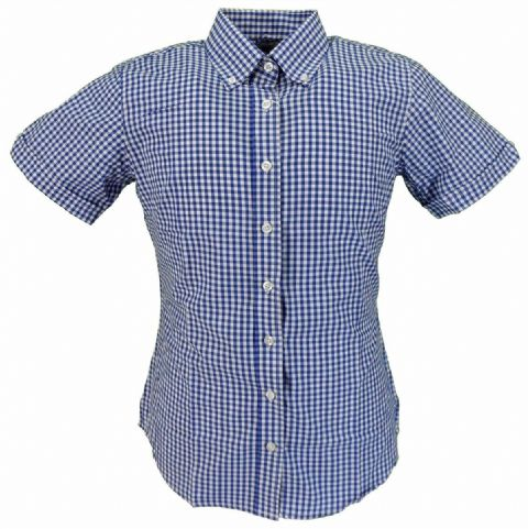 Ladies Relco Gingham Shirt. Available in 4 Colours